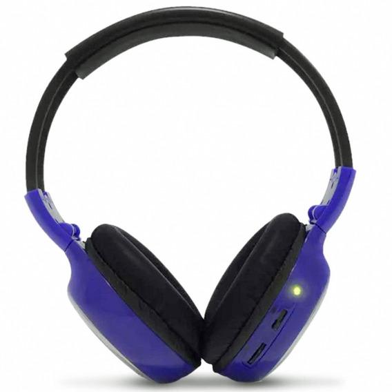 Fone De Ouvido Techone Headphone Azul Sem Fio
