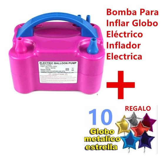 Bomba Eléctrica Para Inflar Globos + Regalo 10 Globos Update
