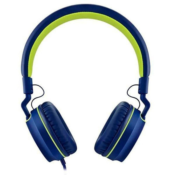 Fone De Ouvido Earphone Fun Series Verde E Azul Ph162 Pulse