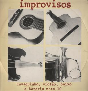 Brasil - Improvisos Cavaquinho Violao Baixo E Bateria Lp
