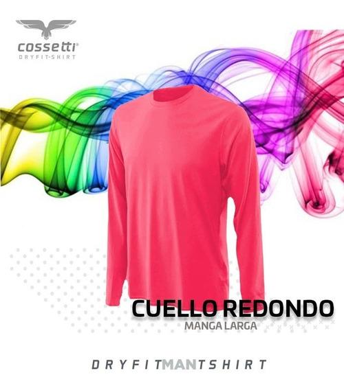 Playera Cuello Redondo Cossetti Larga Dry Fit Neón Xl 2xl