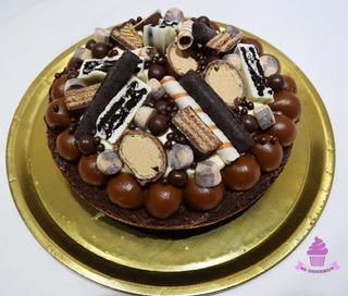 Torta Brownie Chocolate Dulce De Leche Crema Oreo Bonobon