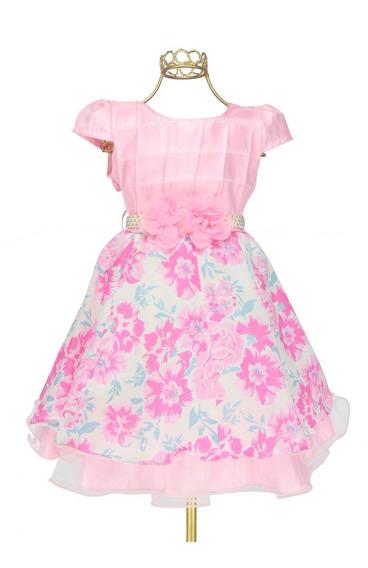 Vestido Infantil Estampa Floral Delicado Charmoso Confortav