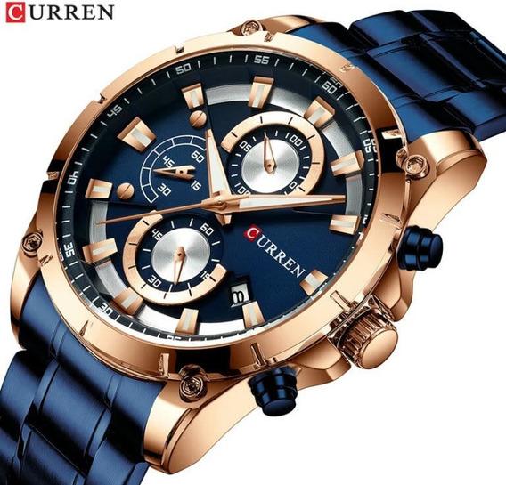 Relógio Lancamento Cronógrafo Curren 8336 Super Promoção