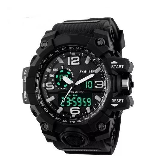 Relógio Masculino Completo Analogico E Digital Estilo Shock