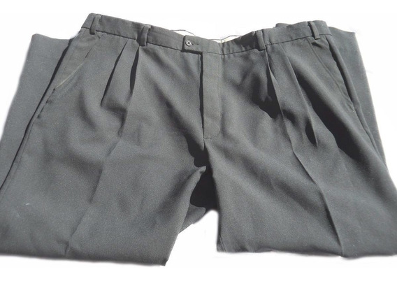 Pantalon Vestir Gris Angelo Litrico Talle 58 Especial Hombre
