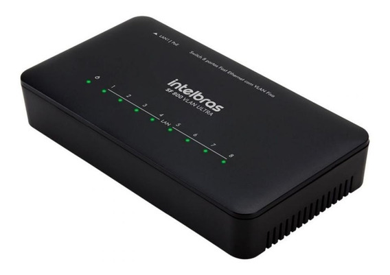 Switch 8 Portas Fast Ethernet Com Vlan Fixa Sf 800 Ultra