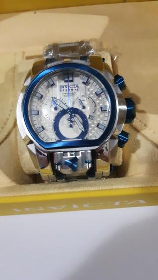 Relógio Invicta Zeus Bolt Magnum Prata/azul A Prova D