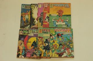 Hqs Marvel Force Serie Completa 9 Edições Editora Globo 1991