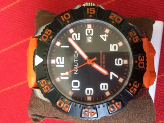 Relógio Náutica Mod. N12641g Pulseira De Silicone - Enviando