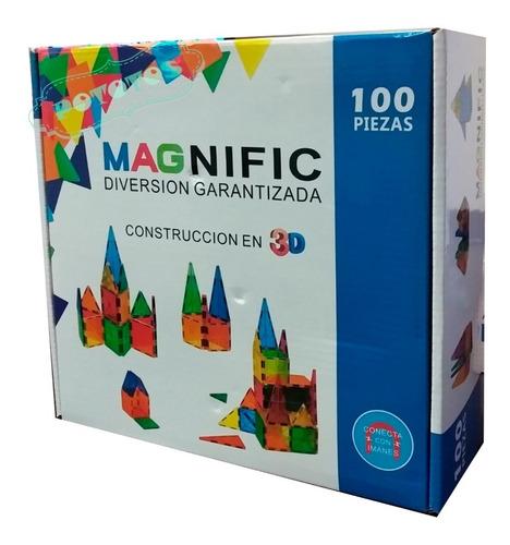 Bloques Magneticos Magnific X100 Piezas
