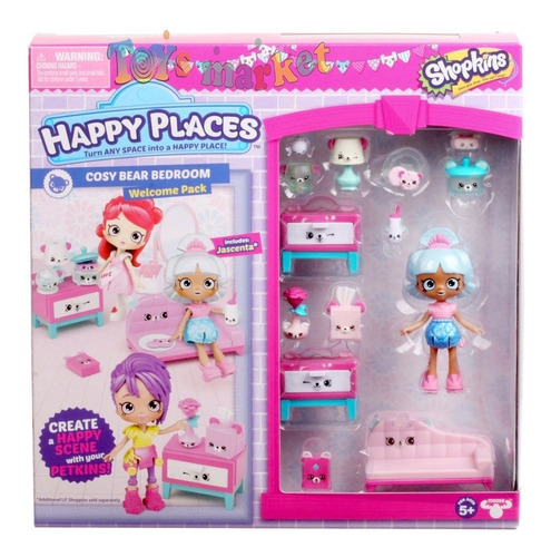 Happy Places Shopkins Pony Establo Dormitorio Muebles Jardin