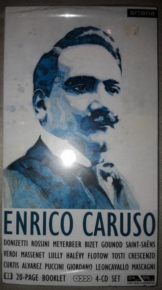 Frt Grátis Box Enrico Caruso 4 Cds Importado Lacrado