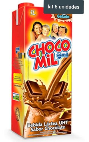 Kit 6 Unidades Chocomil Cemil 1l Parcele Em Até 12 Vezes