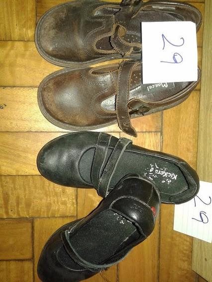 Zapatos Para El Colegio Negros Y Marrones Grisino