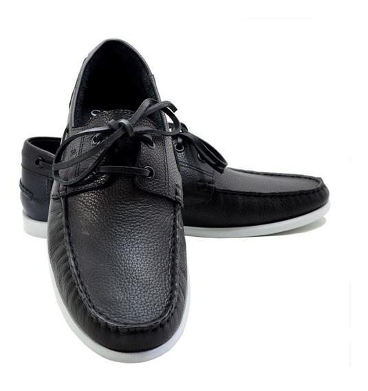 Sapato Masculino Sanravi Dockside Em Couro Legitimo Promoção