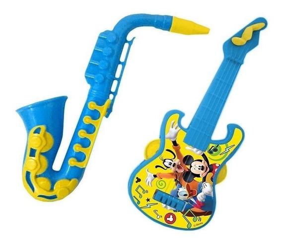 Guitarra E Saxofone Mickey Disney - Etitoys