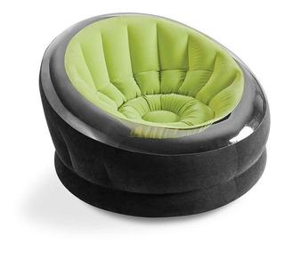 Intex Empire Silla Inflable, Sillon Puff Futon Sofa, Verde