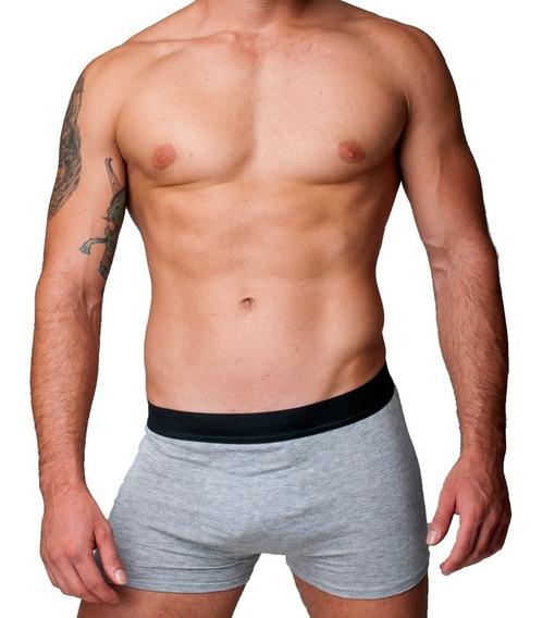 Kit 10 Cuecas Boxer Cotton Confort Masculina Part.b Cinza