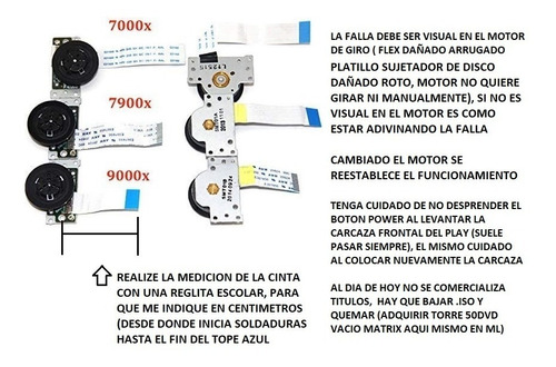 Motor De Giro Playstation2 70000 90000 /leer Descrip Por Fav
