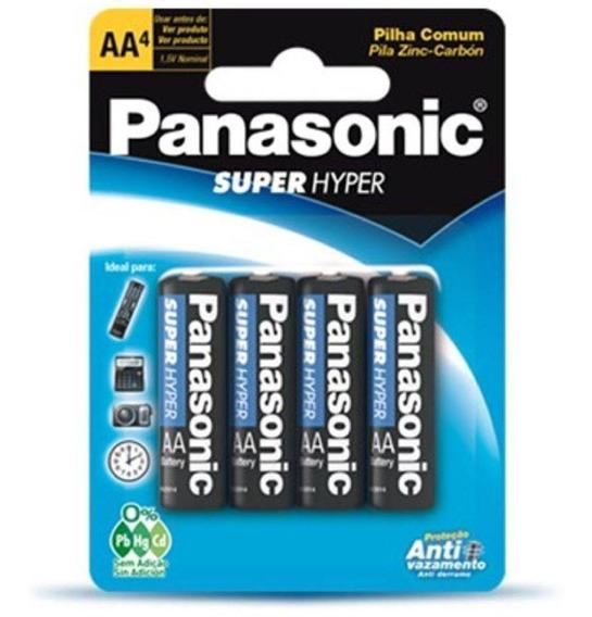 Pilha Peq. Zinco Aa 4 Unidades Um-3shs Panasonic