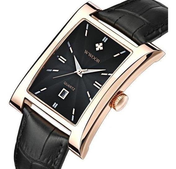 Relógio Masculino Original Social Square Luxo Inox Importado