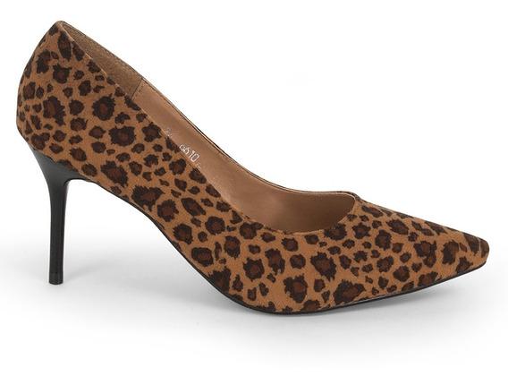 Zapatillas Zapatos Dama Animal Print Tacon Aguja 9102