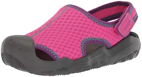 Crocs Swiftwater Sandal Junior Neon-magenta Envios Todo Pais