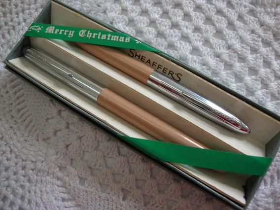 Conjunto Sheaffer Merry Christmas Tinteiro+lapis.1960 Nos