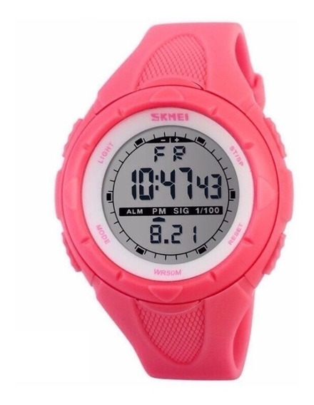 Relógio Feminino Skmei 1074 Digital Esportivo Prova D