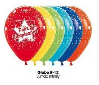Globo Colores Surtidos Feliz Cumpleaños R12