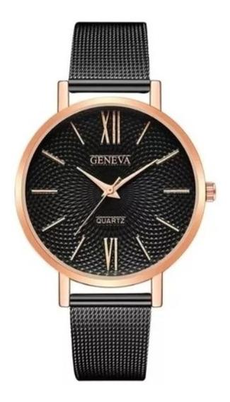 Kit 2 Relógios Feminino Geneva Quartz