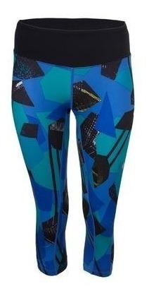 Legging Asics Mujer Azul W Intrval Capri Ii Gym Entrenamiento Crossfit Wf34198011
