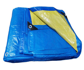 Lona Top Multiuso 8x10 Azul E Amarela Com 150 Micras + Ilhos