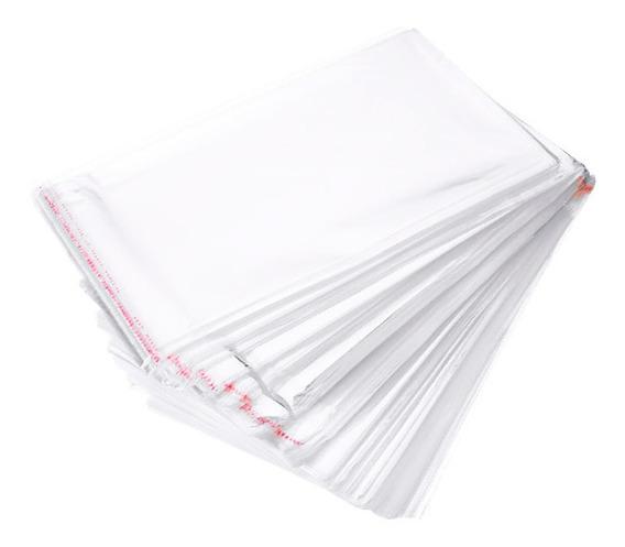 Saco Adesivado Plástico 30 Micras Top 12x18 + Aba 500 Un
