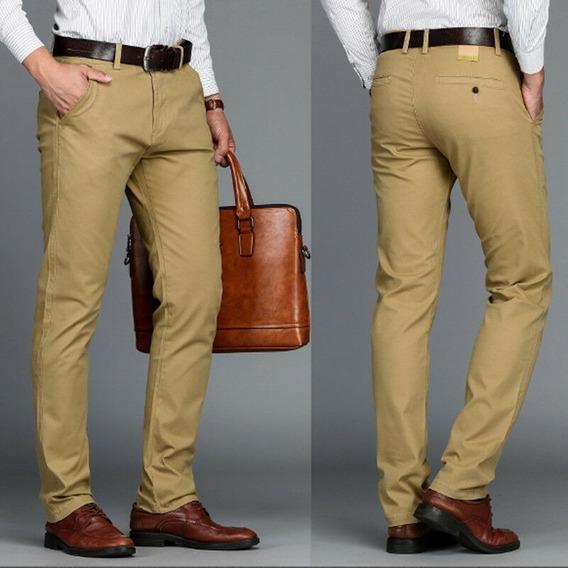 Pantalon De Vestir Hombre Recto Talles De 38-46