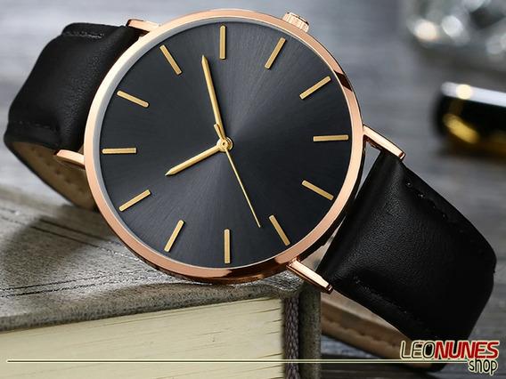 Relógio Clássico, Elegante, Fino + Estojo! Promoção! Barato!