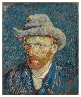 Retrato Chapéu Feltro - Van Gogh - 50x60 Tela Para Quadro