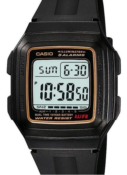 Relógio Casio Masculino Digital Preto F-201wa-9adf