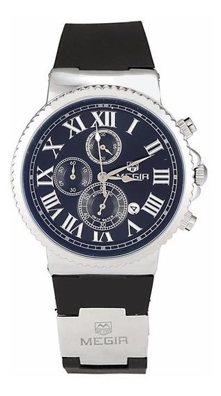 Reloj Cronografo Megir Modelo 3007sys - Original