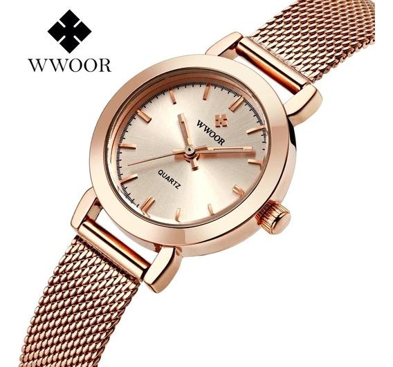 Relógio Feminino Wwoor A Prova D