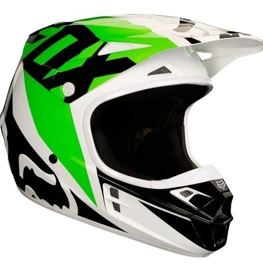 Capacete Fox V1 Race 18 - Verde