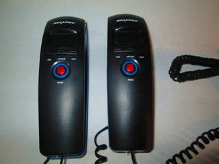 Remato Par De Telefonos Alambricos Nakazaki Con Cable Largo