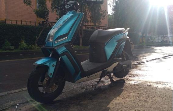 Moto Electrica Auteco Starker E3 Azul Litio 2000w