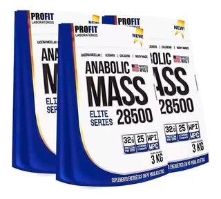 3x Hipercalórico Anabolic Mass 28500 - 3kg - Profit Labs