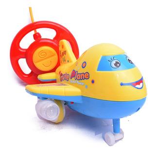 Avion A Radio Control Infantil Con Luz Y Sonido