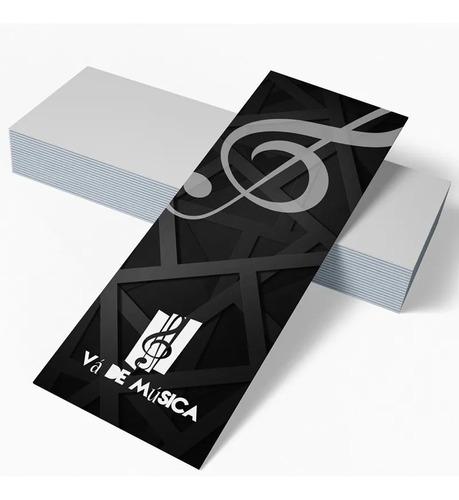 Imagem 1 de 1 de 1000x Marcador De Página Personalizado 5x18cm Couche Brilho
