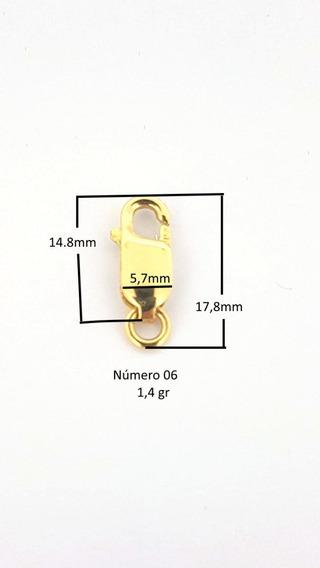 Fecho Ouro 18k Mosquetão 17.8mm