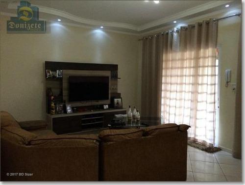 Sobrado Com 3 Dormitórios À Venda, 265 M² Por R$ 470.000,00 - Vila Junqueira - Santo André/sp - So1196