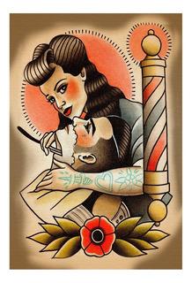 Placa Quadro Decorativo Barbearia Cabeleireiro Salão (bb018)